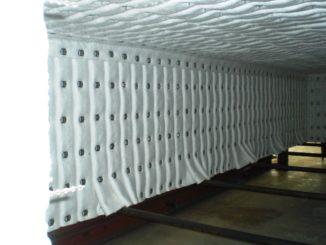 furnace hood, folded fibre blanket insulation